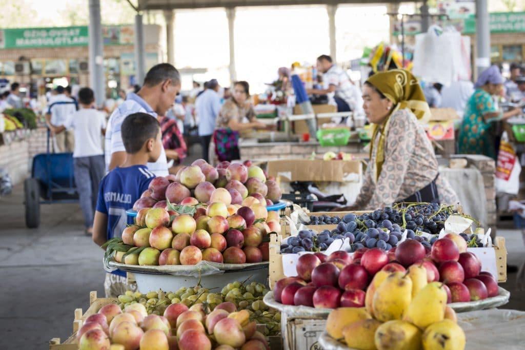 Market in Margilan, Uzbekistan