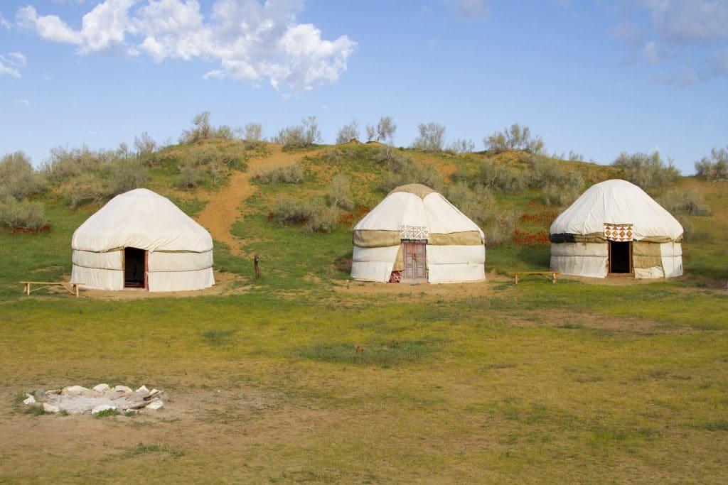 Yurt camp in Nurata, Uzbekistan