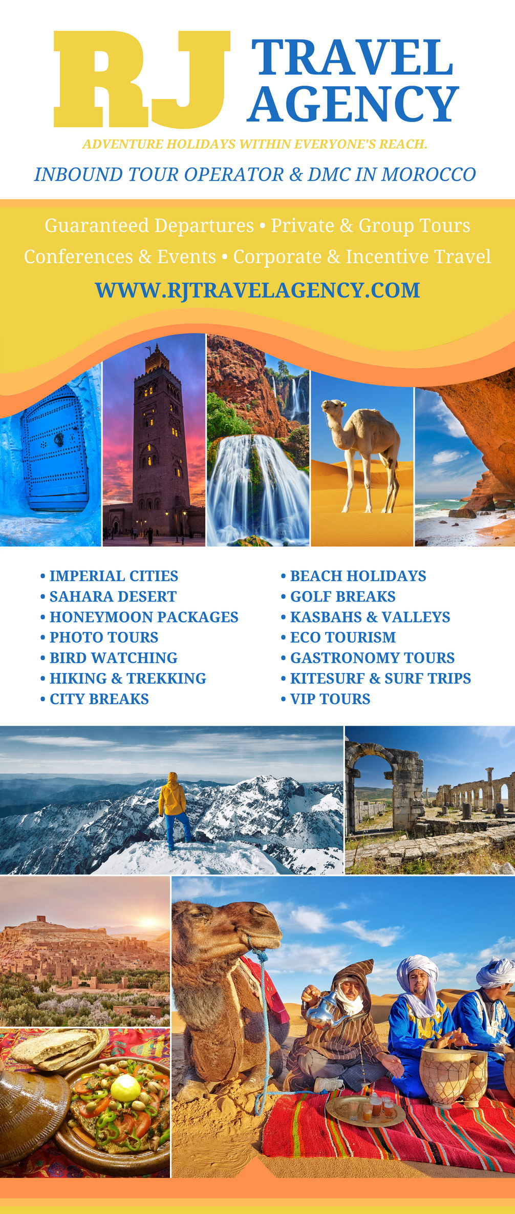 Become our B2B Partner Flyer RJ Travel Agency Morocco