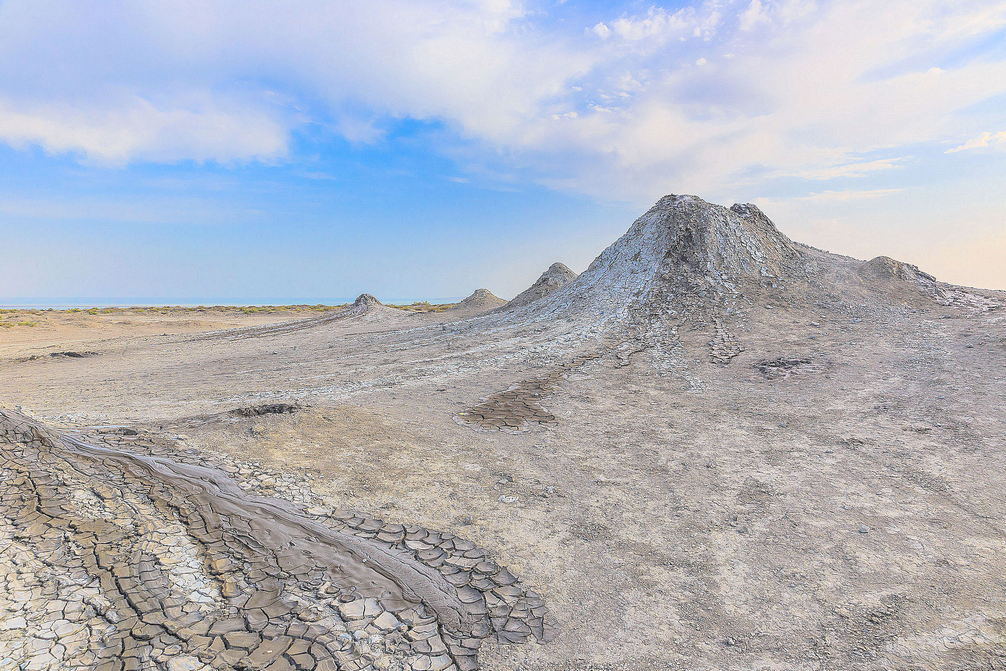 Mud volcanoes in Gobustan Azerbaijan