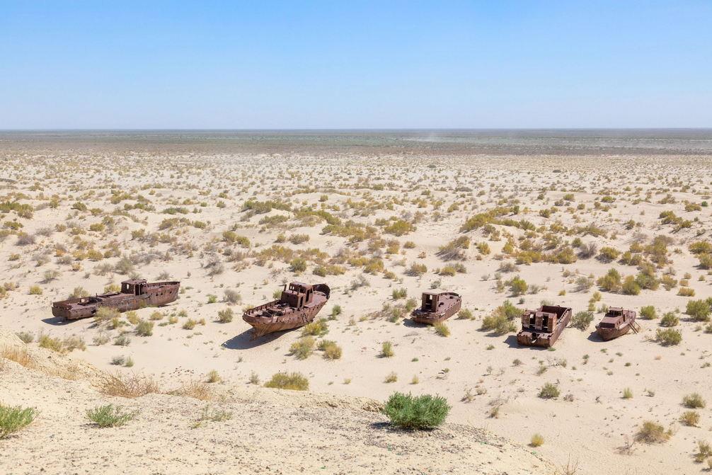 Ship cemetery in Muynaq