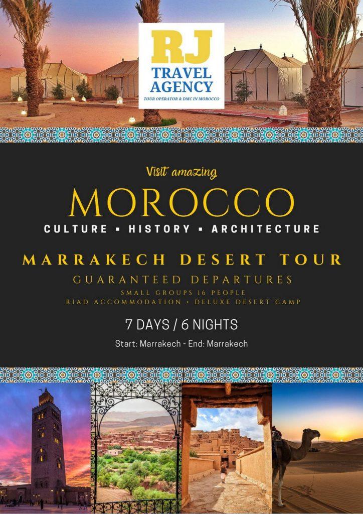 7-Day Marrakech & Desert Tour Morocco 430€ • Join a Group 1
