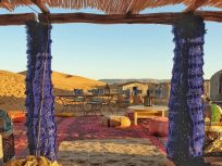 Desert camp in Tinfou dunes that makes part of a 2-day Zagora desert tour in Morocco