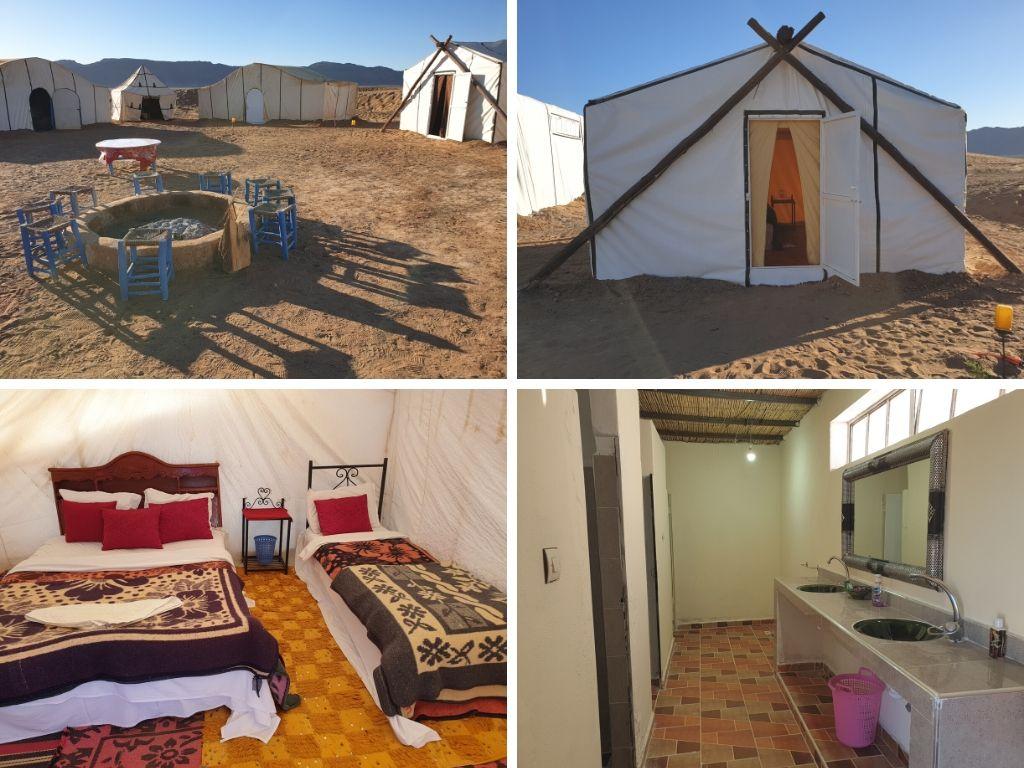 Standard desert camp in Zagora