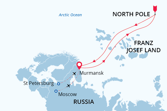 Map of North Pole tours