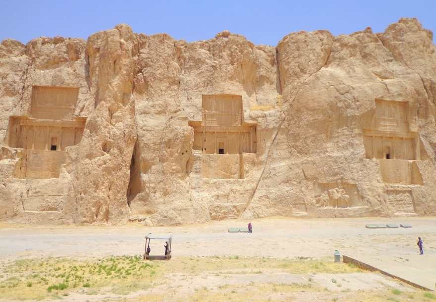 Naqsh-e Rostam is a wonderful and charming ancient site in Fars province. This rocky tourist attraction is located a few kilometers from Persepolis and near the city of Shiraz.