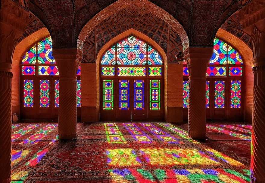 During the morning visit to Shiraz, you will visit Nasir-Ol-Molk Mosque also known as the pink mosque.