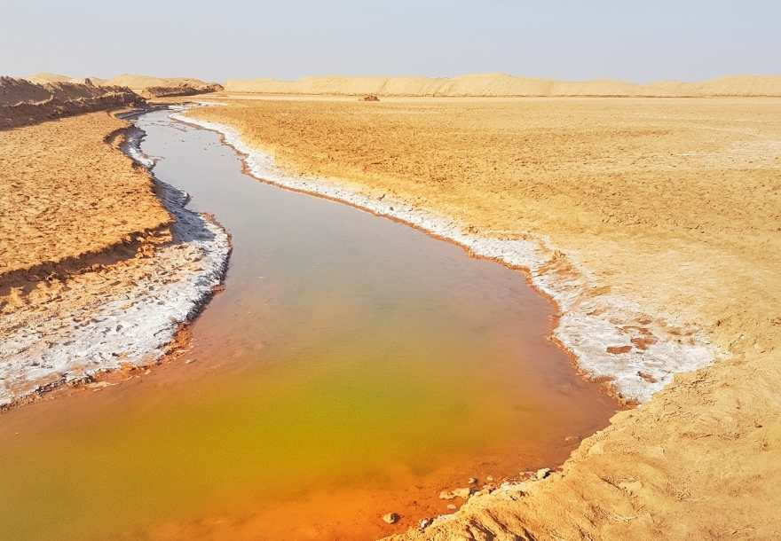 Shur salt river Iran